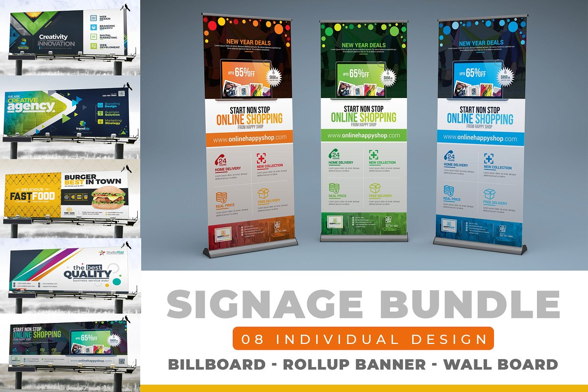 Signage Template Bundle | 30+ Items ~ Stationery Templates