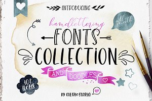 Handlettering Fonts Collection