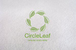 Eco Brand / Circle Leaf Logo Design