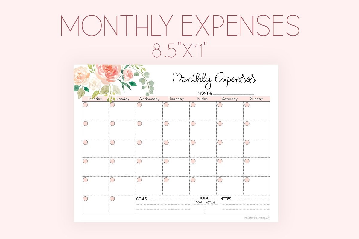 Monthly Expense Tracker PDF