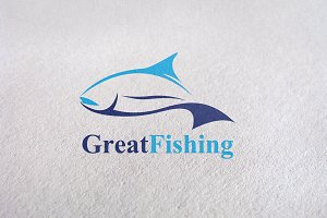 Fishing / Fish Brand Logo template