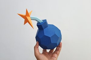 DIY Cannon Bomb - 3d papercraft