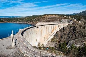 The Atazar reservoir and  dam