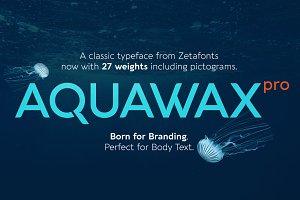Aquawax Pro - 27 fonts 75%OFF!