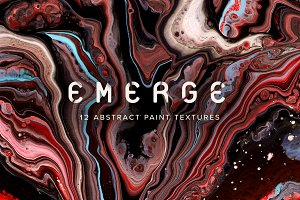 Emerge: 12 Abstract Paint Textures