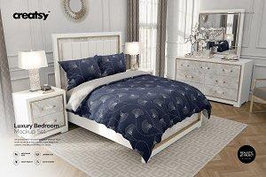 Luxury Bedroom Bedding Mockup Set