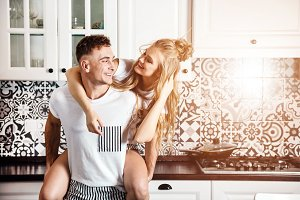 Happy Couple at the Kitchen