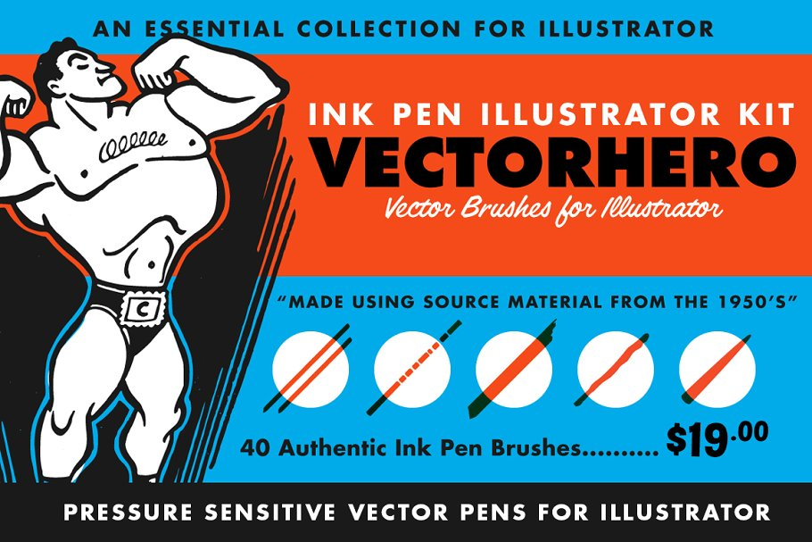 VectorHero   Brushes for Illustrator ~ Illustrator Add-Ons