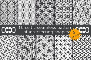 10 celtic patterns. Package 4