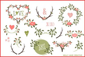 Branches, Wreaths, Laurels Vector
