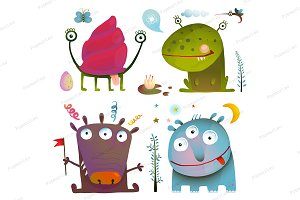 Fun Cute Little Monsters for Kids