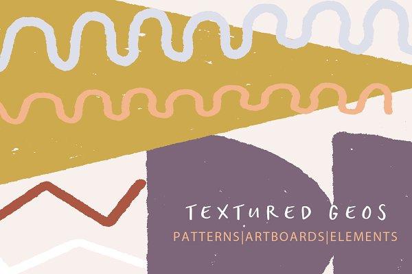 Textured Geo Patterns & Elements