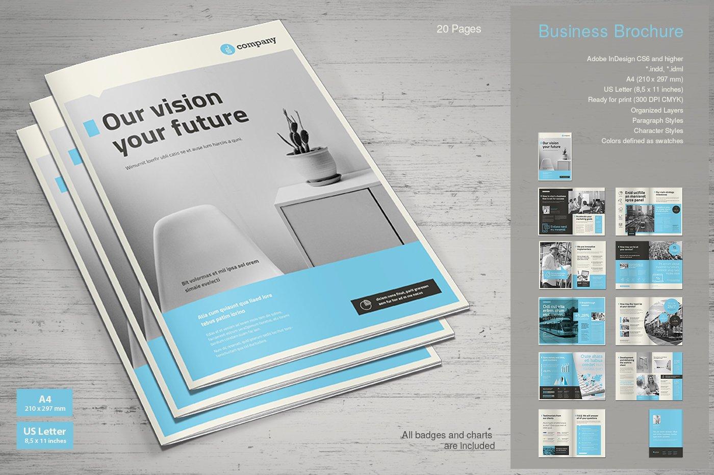 Business Brochure Vol  9 ~ Brochure Templates ~ Creative Market