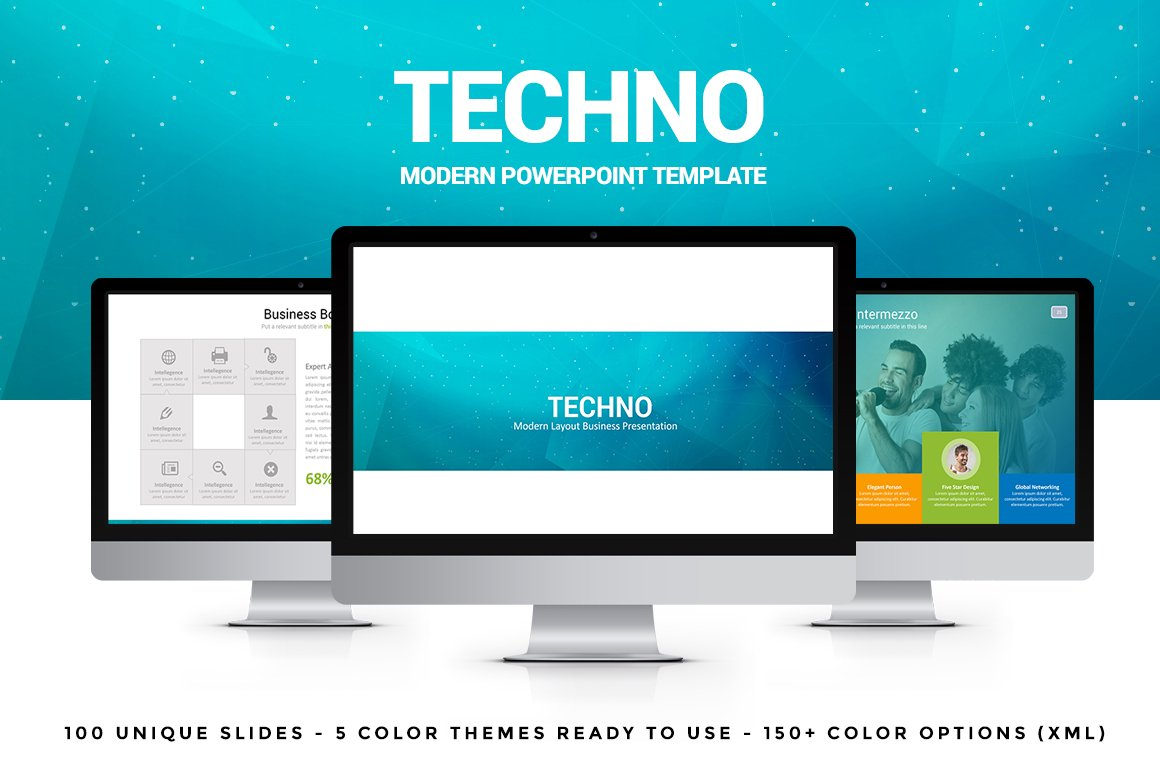 Powerpoint templates and keynote themes that look great in 2016 techno creative powerpoint template toneelgroepblik Choice Image