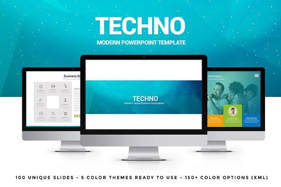 Techno powerpoint template presentation templates creative market toneelgroepblik Images