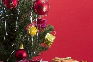 Gift boxes and Christmas tree