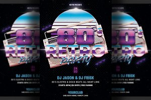 80s Retro Party Flyer