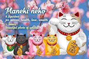Maneki Neko set