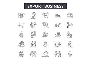 Export business line icons for web