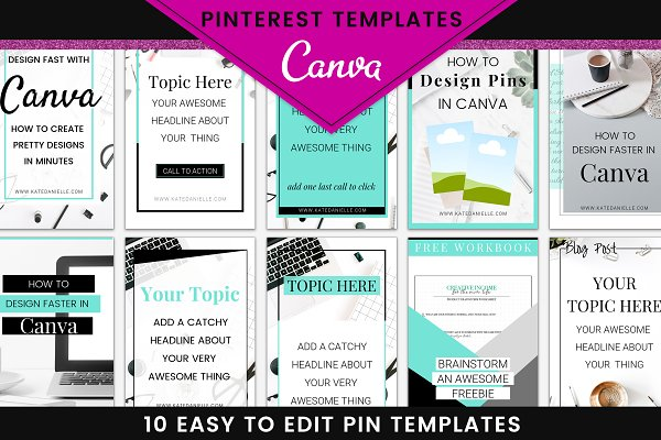 Pinterest Templates ~ Creative Market