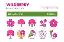 Sakura Cherry Blossom Festival Icons by  in Icons