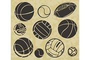 Sports Balls - vector set.