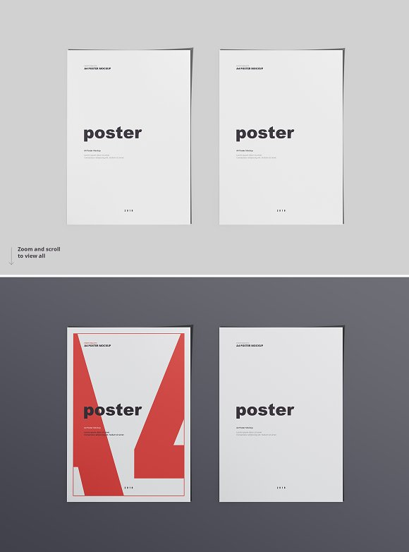 Poster / Flyer Mockups in Print Mockups - product preview 3