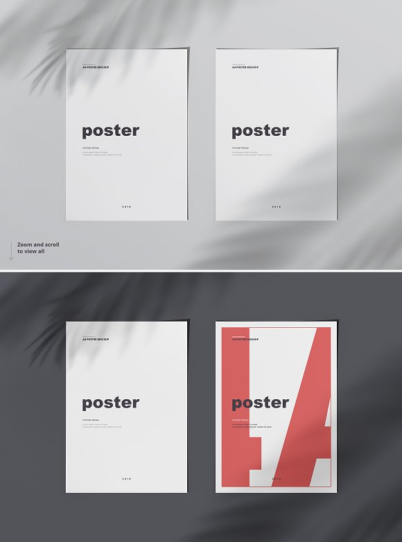 Poster / Flyer Mockups in Print Mockups - product preview 4