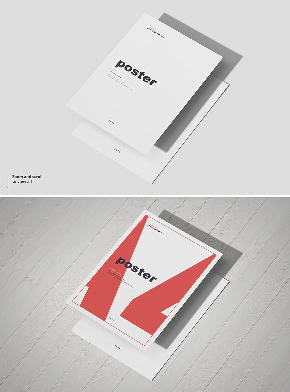Poster / Flyer Mockups in Print Mockups - product preview 11