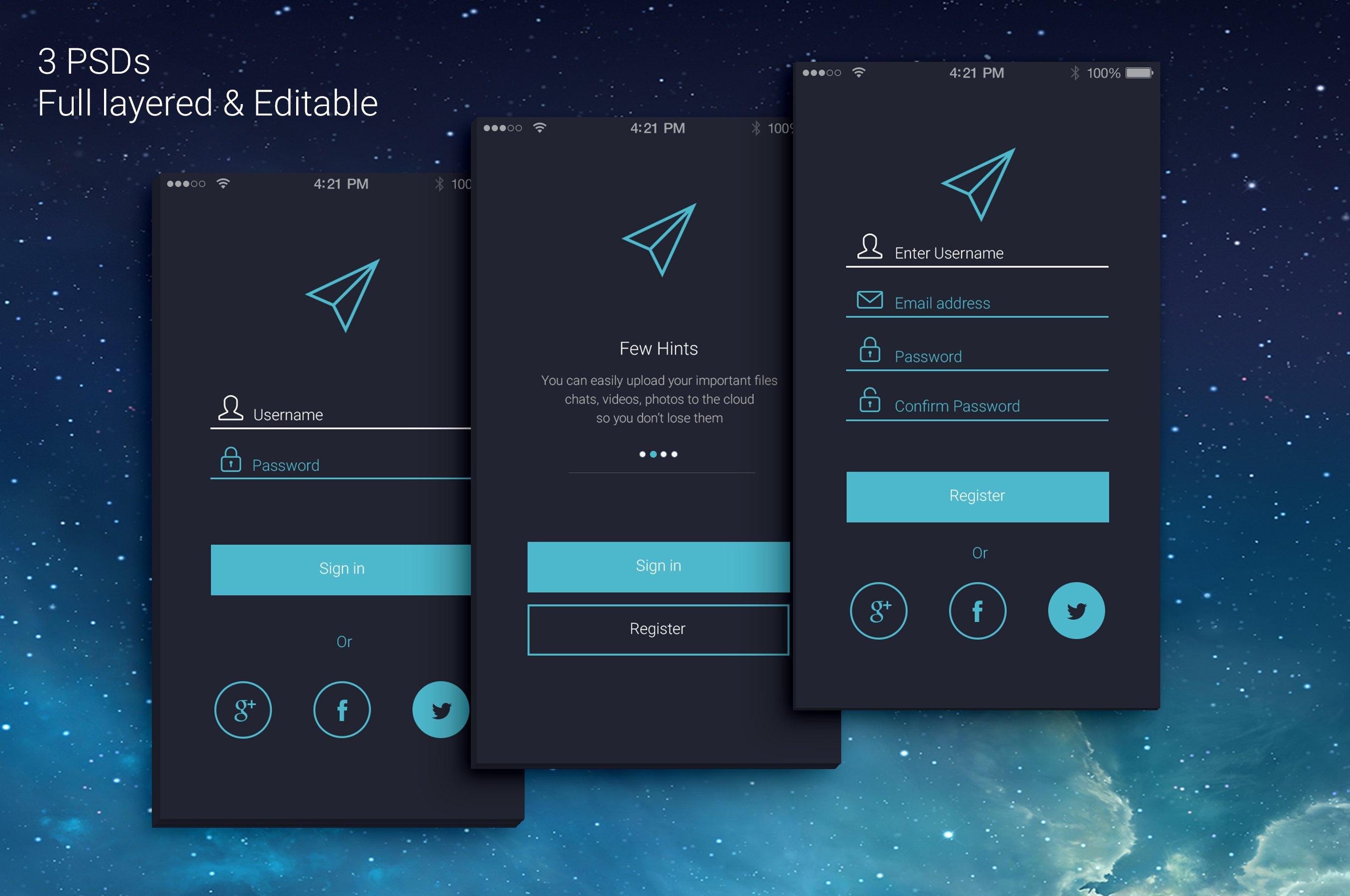 Login Registration For Your App Graphics Creative Market