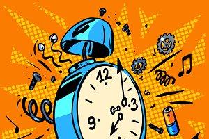 morning alarm clock rings tim