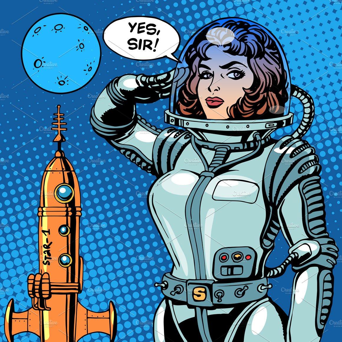 Japanese Sci Fi Art Iso50 Blog: Woman Astronaut Captain