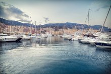 Yachts moored in Monaco by  in Architecture