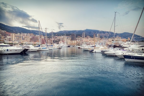 Stock Photos: sweet spot - Yachts moored in Monaco