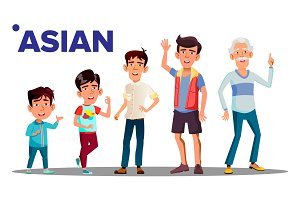 Asiatic Generation Male People