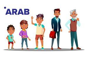 Arab, Muslim Male Set People Person