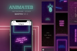 ANIMATED Instagram Story Quotes-Neon