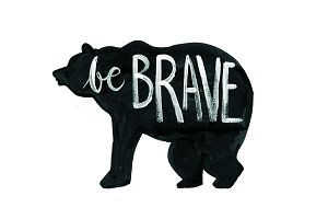 be brave bear wall art