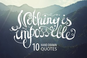 10 HAND DRAWN QUOTES