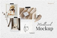 Natural Moodboard mockup by  in Branding