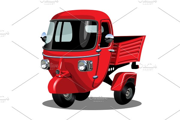 Vector cartoon delivery scooter