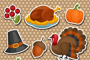 Happy Thanksgiving Day sticker.