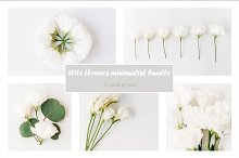 White flowers minimalist bundle by  in Mockups