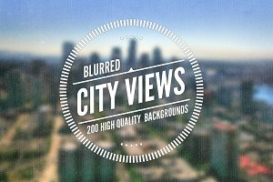 50 Blurred City Views (4 Variations)
