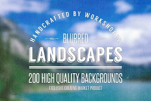 50 Blurred Landscapes (4 Variations)