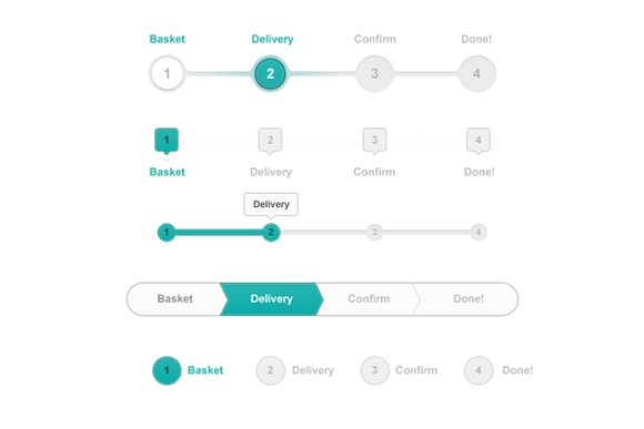 progress trackers web elements creative market