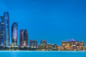 Panorama view of Abu Dhabi, UAE