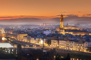 Sunset at Florence, Italy