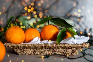 Fresh Clementines or Tangerines in t