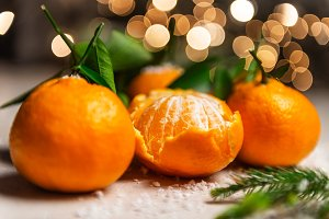 Fresh Clementines or Tangerines with